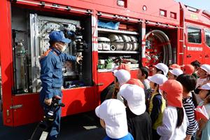 消防訓練での様子